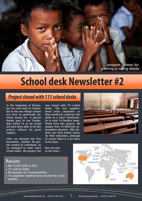 School desks for Cambodia