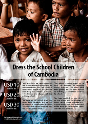 School uniforms for Cambodia